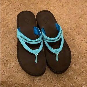 OluKai Women's Auhele w Wedge Sandal